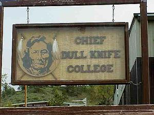 Chief Dull Knife College - Chief Dull Knife College sign