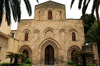 La Magione, Palermo - Façade of the Basilica