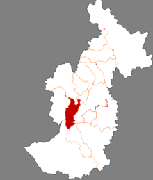 Location of Wumahe District in Yichun
