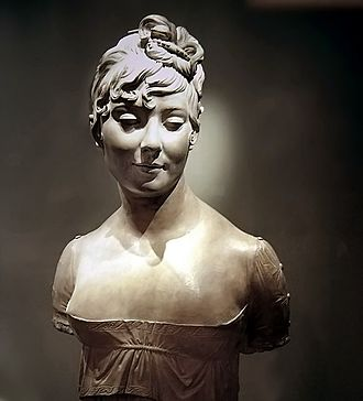 Bust (sculpture) - Unidentified woman, by Joseph Chinard, terracotta, 1802