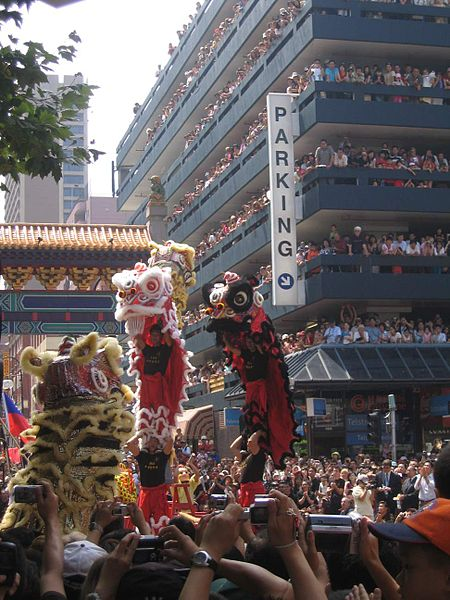 Chinese New Year celebrations in the Chinatown of Melbourne, Australia.