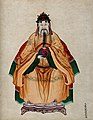 Chinese Emperor Fu Hsi, wearing traditional costume, Wellcome V0018487.jpg