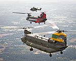Chinooks celebrate the 100th anniversaries of 18(B) and 27 Squadron from RAF Odiham and 28 Squadron from RAF Benson. MOD 45160405.jpg