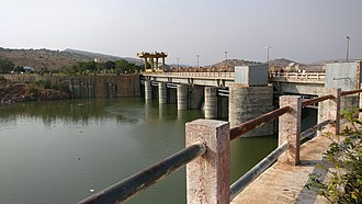Chitravathi River - Chitravati Balancing Reservoir at parnapalli on 15th January 2018