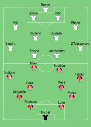 2010 Copa Libertadores Finals - Image: Chivas vs Internacional 2010 Copa Libertadores Final 1