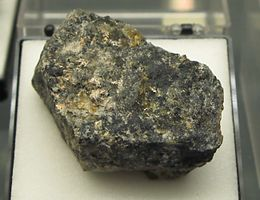 Chlorargyrite with native Silver - Daniel mine, Schneeberg, Erzgebirge.jpg