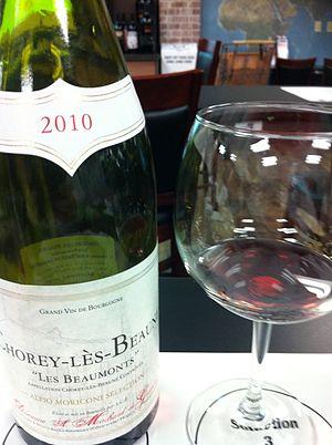 Chorey-les-Beaune wine - A bottle of Chorey-les-Beaune.