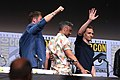 Chris Hemsworth, Taika Waititi & Tom Hiddleston (35409270744).jpg