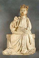 Christ couronné assis bénissant