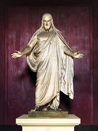 Christus (statue) - Image: Christus (Draft) by Thorvaldsen