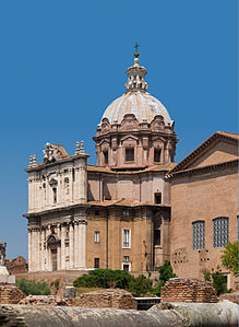 Church Santi Luca e Martina from Forum Romanum, Rome.jpg