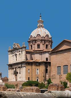 Church Santi Luca e Martina from Forum Romanum, Rome