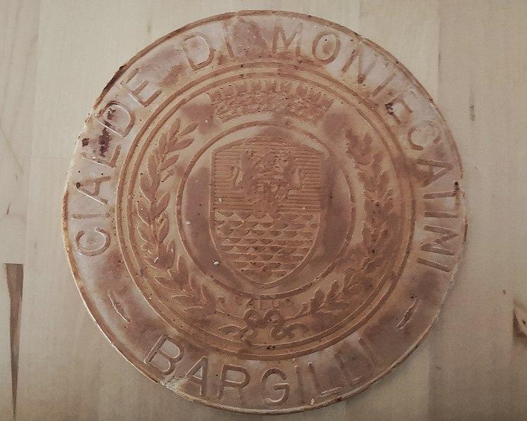 una cialda di Montecatini con il suo logo - Negozio Bristot