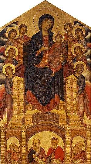 Cimabue - Maestà di Santa Trinita, 1280–1285, Uffizi Gallery, Florence.
