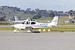 Cirrus SR20 (VH-PJC) taxiing at Wagga Wagga Airport.jpg