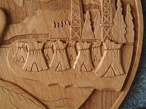 Relief carving - Image: City Gp Crest Relief