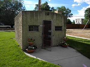 National Register of Historic Places listings in Sheridan County, Wyoming - Image: Clearmont Jail NRHP 84003698 Sheridan County, WY