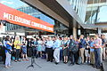 Climate scientists protest CSIRO staff cuts AMOS conference.jpg