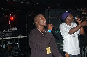 No Malice - No Malice (left) performing with his brother and Clipse cohort Pusha T, in February 2007