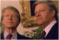 Close up of Jimmy Carter and German Chancellor Helmut Schmidt. - NARA - 175454.tif