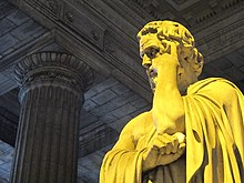 Vista laterale ravvicinata di Licurgo di Sparta