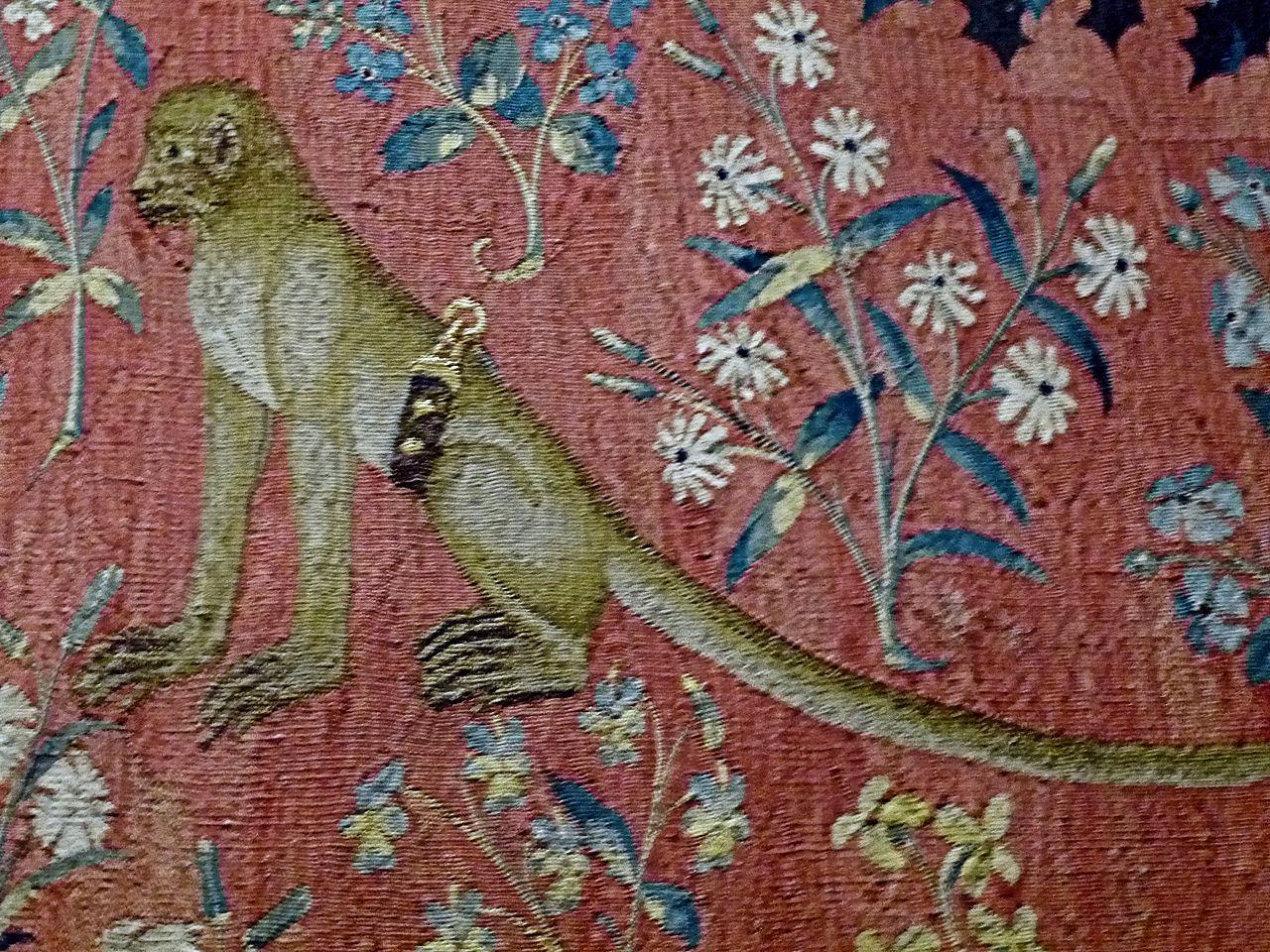 File cluny dame la licorne detail 04 jpg wikimedia commons - La tapisserie de la dame a la licorne ...