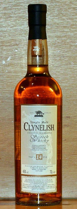 Clynelish distillery - A bottle of 14 year old Clynelish