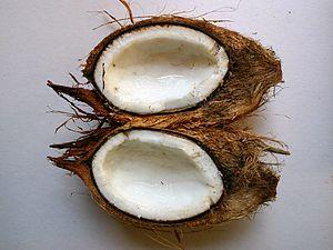 Gabonese cuisine - A split coconut