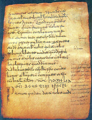 Page 72 of the Aemilianensis 60 codex. The glo...
