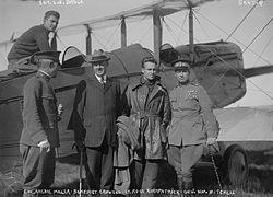Col. Archie Miller, Benedict Crowell, Lt. Ross Kirkpatrick, Gen. Wm. Mitchell, Sgt. E.N. Bruce