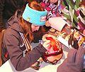 Coline Mattel 2 medals 2011 autographs 35.jpg