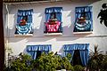 Colorful curtains on a building in Marbella old city (29489230511).jpg