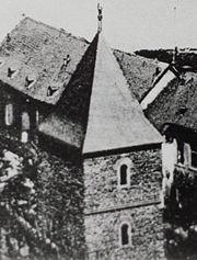 Columbarium mit der Schwurhand von C.J.Friedrichs aus dem Jahr 1889 in Cochem