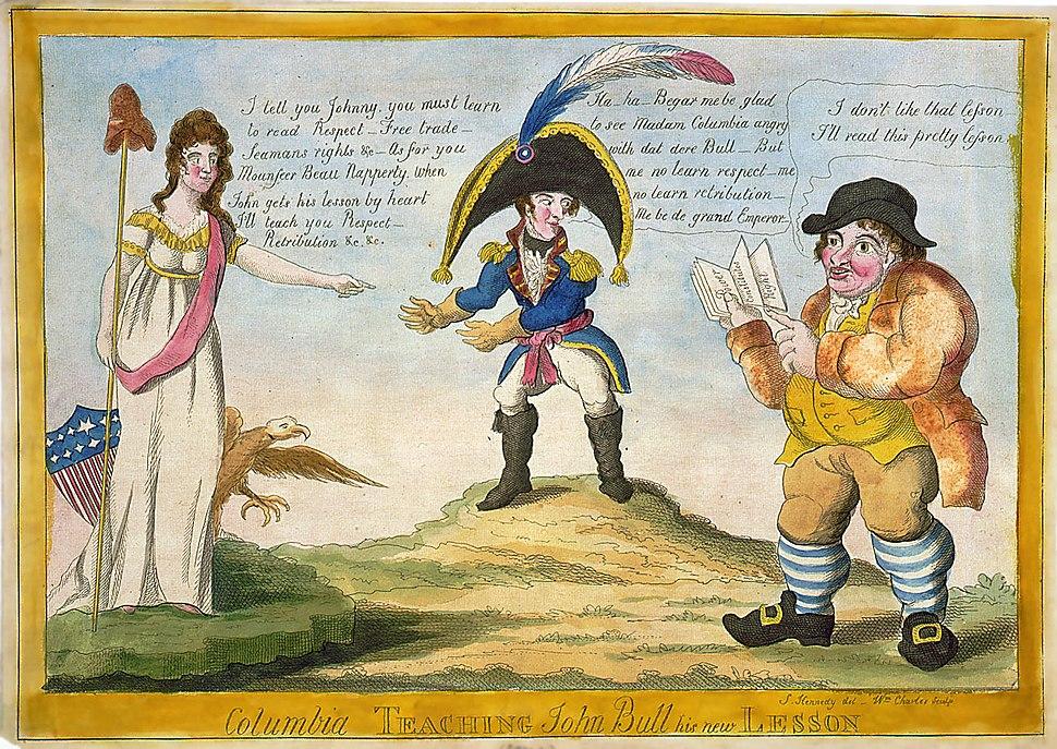 Columbia-John-Bull-Napoleon-ca1813