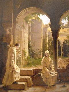 <i>Comminges and Adelaide in the Trappist Monastery</i> painting by François Fleury-Richard