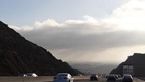 Conejo Grade - Driving down the Ventura Freeway on the Conejo Grade: from Thousand Oaks into Camarillo