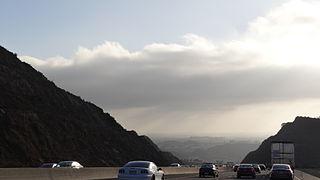 Conejo Grade Steep grade on US 101 Highway in Ventura County, California