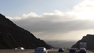 Conejo Grade - Driving down the Ventura Freeway on the Conejo Grade: from Thousand Oaks into Camarillo
