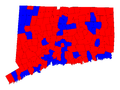 Connecticut Gubernatorial Election Results by municipality, 2010.png