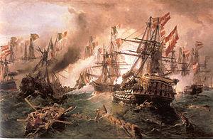 Konstantinos Volanakis - The Battle of Lissa (1869)