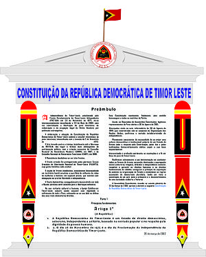 Constitution of East Timor - Preamble and article 1.