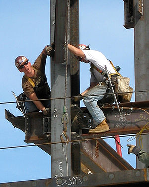 Ironworker - Two ironworkers at work