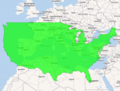 Contiguous United States overlayed over Europe.png