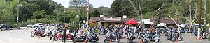 Biker bar - Motorcycles at Cook's Corner, a biker bar