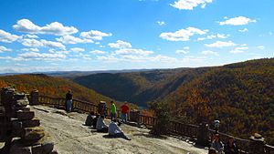 Coopers Rock State Forest - Main overlook in October 2012