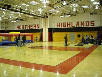 Northern Highlands Regional High School - Corcoran Gymnasium at Northern Highlands during the Palooza