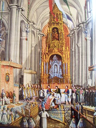 Guadalupe Victoria - Coronation of Iturbide on 21 July 1822.