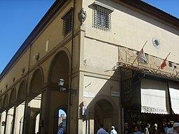 Curva en el Ponte Vecchio.