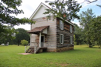 New Echota - The New Echota Council House. The building in this photo is a reconstruction of the original Council House.