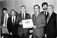 Councilor Brian McLaughlin, Councilor Charles Yancey, Mayor Raymond L. Flynn, Councilor Thomas M. Menino, Councilor David Scondras, Councilor Christopher A. Iannella (9516904421).jpg